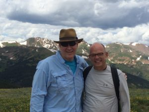 Hiking with Summer Institute Chair, Doug Braun-Harvey